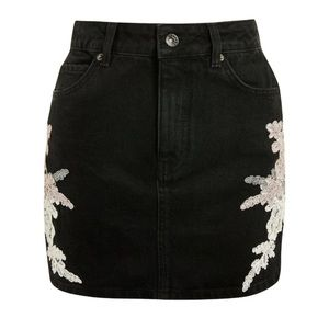 Topshop black Jean skirt